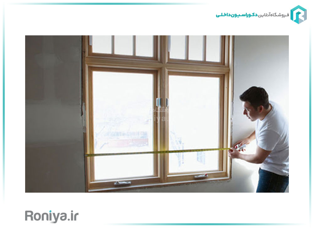 محاسبه مساحت پنجره در کاغذ دیواری