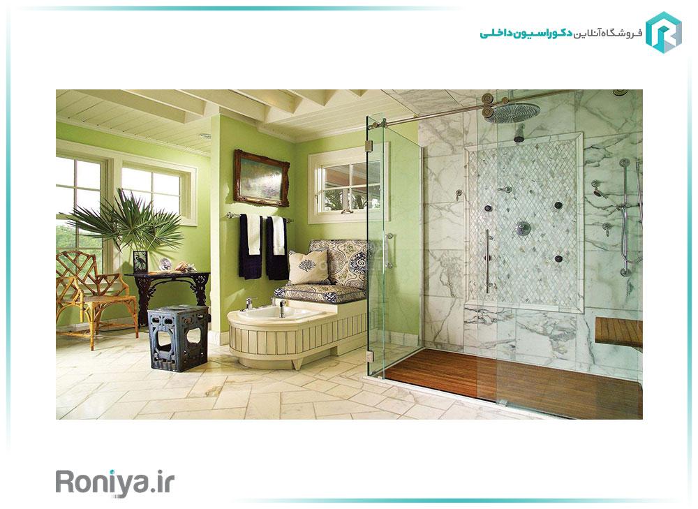 نصب کاغذ دیواری در سرویس بهداشتی